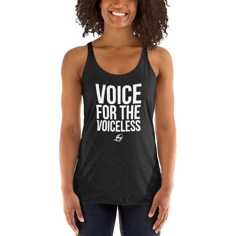 Voice For The Voiceless - Women's Racerback Tank