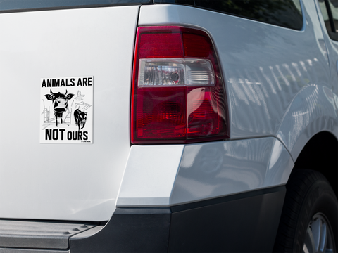 Animals Are Not Ours Sticker