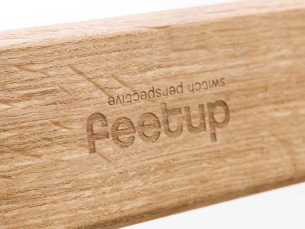 FeetUp® Trainer - Anniversary-Edition - Oak / Alcantara Red