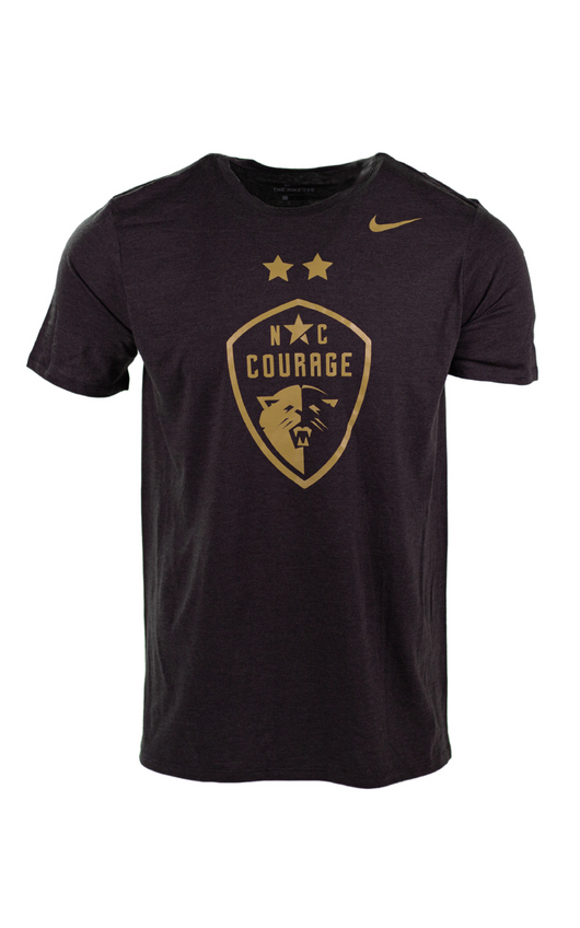 NC Courage Black Two Star Triblend