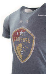 NC Courage Navy Two Star Triblend