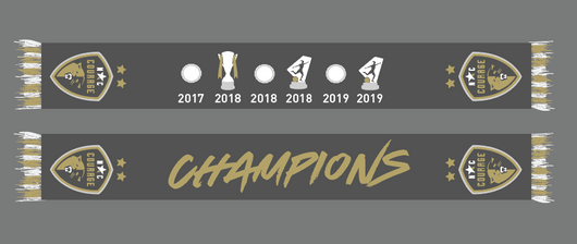 NWSL Champions Two Star Trophies Scarf - Ships 11/6