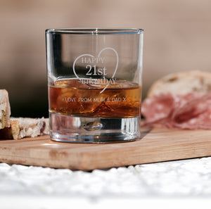 Premium Engraved Whiskey Tumbler - Up to 4 lines of text