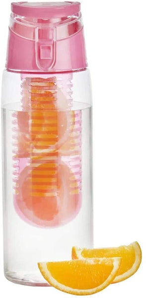 Personalised Fruit Infuser Water Bottle - Pink