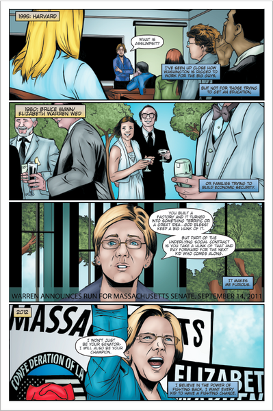 Female Force: Elizabeth Warren comic book