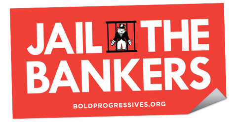 """Jail The Bankers"" sticker"