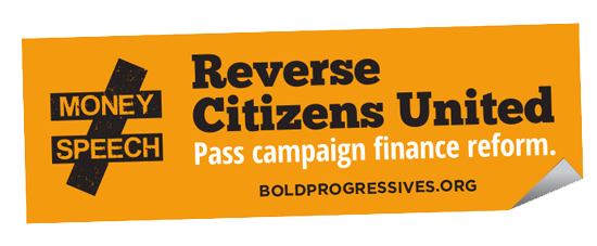"""Reverse Citizens United"" sticker"