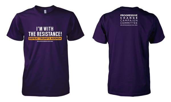 """I'm with the Resistance! Defeat Trump's Agenda"" shirt"