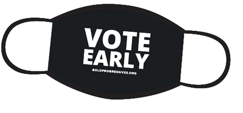 Vote Early facemask