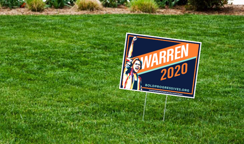Elizabeth Warren 2020 Yard Sign