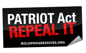 """Patriot Act: Repeal It"" sticker"