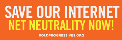 """Net Neutrality Now!"" Sticker"
