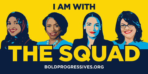 """I'm with the Squad"" Bumper Sticker"