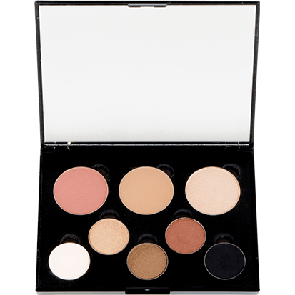 8 Well Palette- 5 Eyeshadows - Blush - Bronzer - Highlight