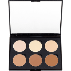 6 Well Cream Concealer - Contour palette