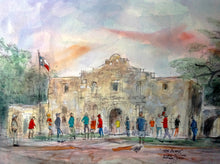 """The Alamo, October, 2017"", Original watercolor painting by Texas Watercolor Artist John York, unframed"