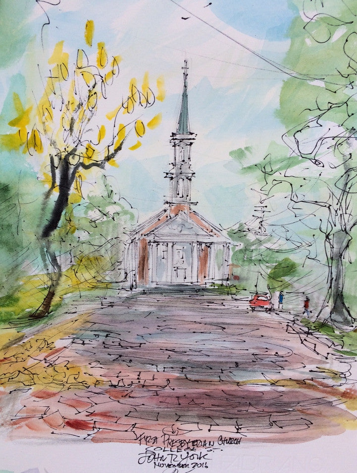 First Presbyterian Church, Original watercolor