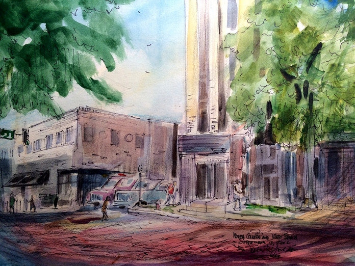 North College and West Erwin, Original Watercolor