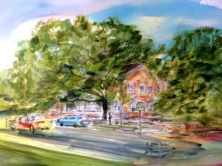 Tyler Woman's Building, Original Watercolor