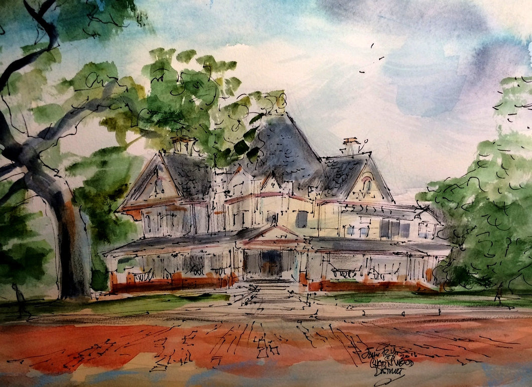Charnwood District House, 11 x 15 inches, Original watercolor on watercolor paper,unframed
