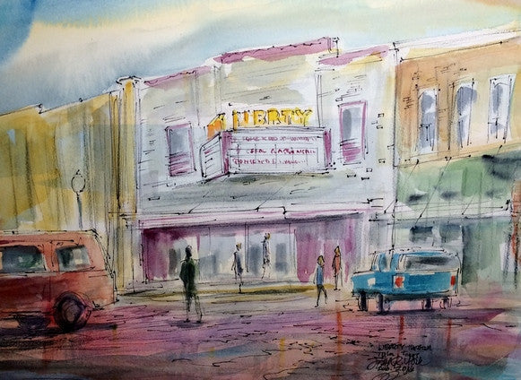 Liberty Theater, Original Watercolor