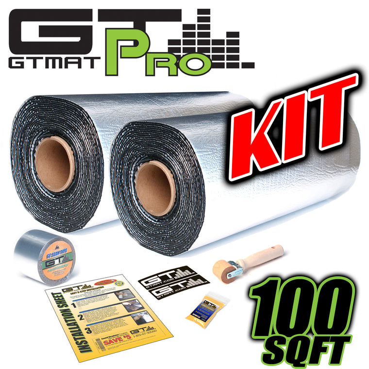 100 SQ FT GTmat Pro 50mil 30 FT Roll Seam Tape Car Audio Sound Deadener Kit