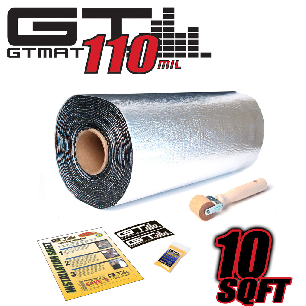 10 SQ FT GTMAT Supreme 110MIL Car Audio Sound Deadener