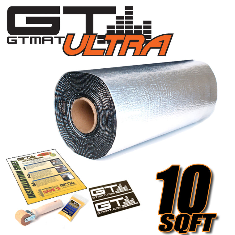 10 SQ FT GTmat Ultra 80mil Car Audio Sound Deadener