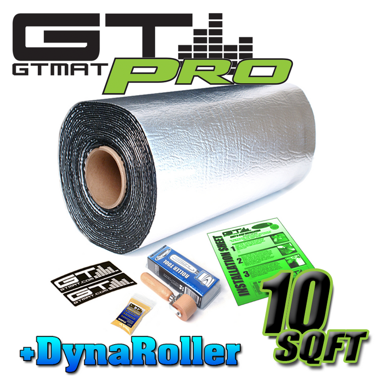 10 SQ FT GTmat Pro 50mil Car Audio Sound Deadener with Dynamat Roller