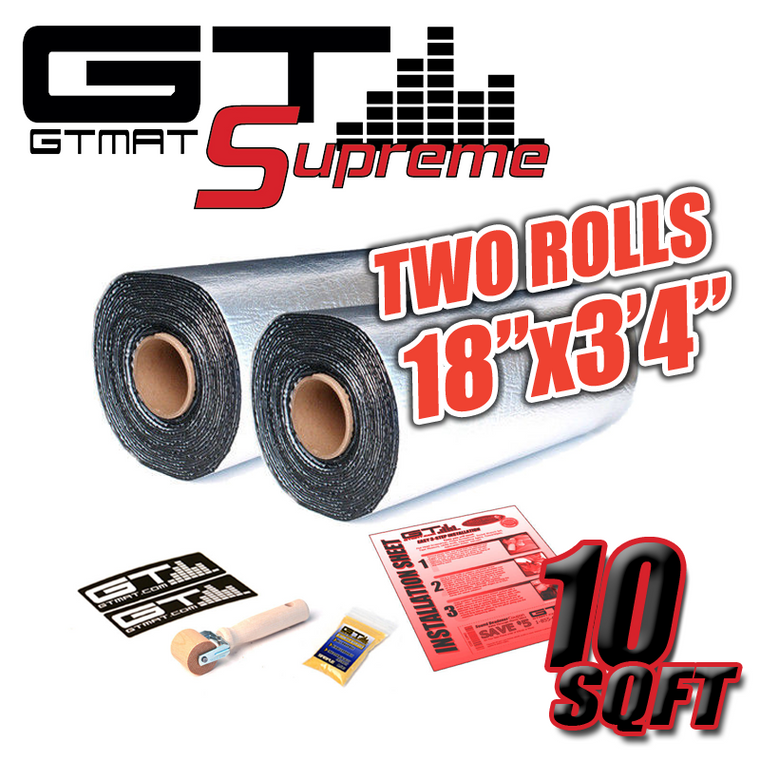 "10 SQ FT (2 Rolls of 18""x3'4"" ) GTMAT Supreme 110MIL Car Audio Sound Deadener"