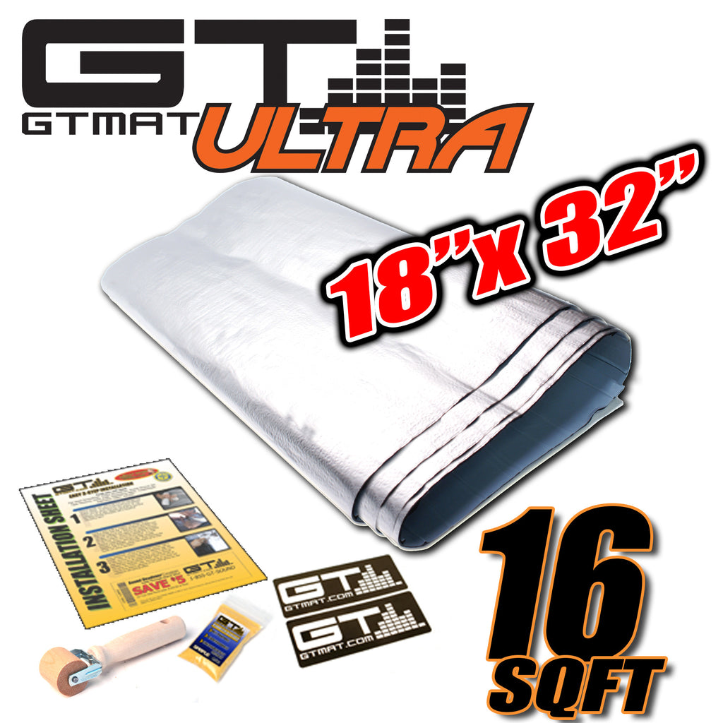 "16 SQ FT GTmat Ultra 80mil 18""x32"" Car Audio Sound Deadener"