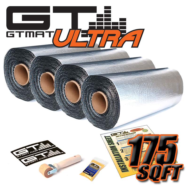 175sqft GTmat Ultra 80mil Car Audio Sound Road Noise Deadener Material