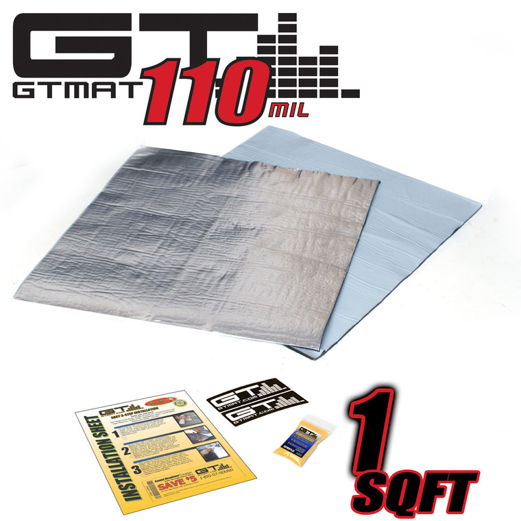 1 SQ FT GTMAT Supreme 110MIL Car Audio Sound Deadener