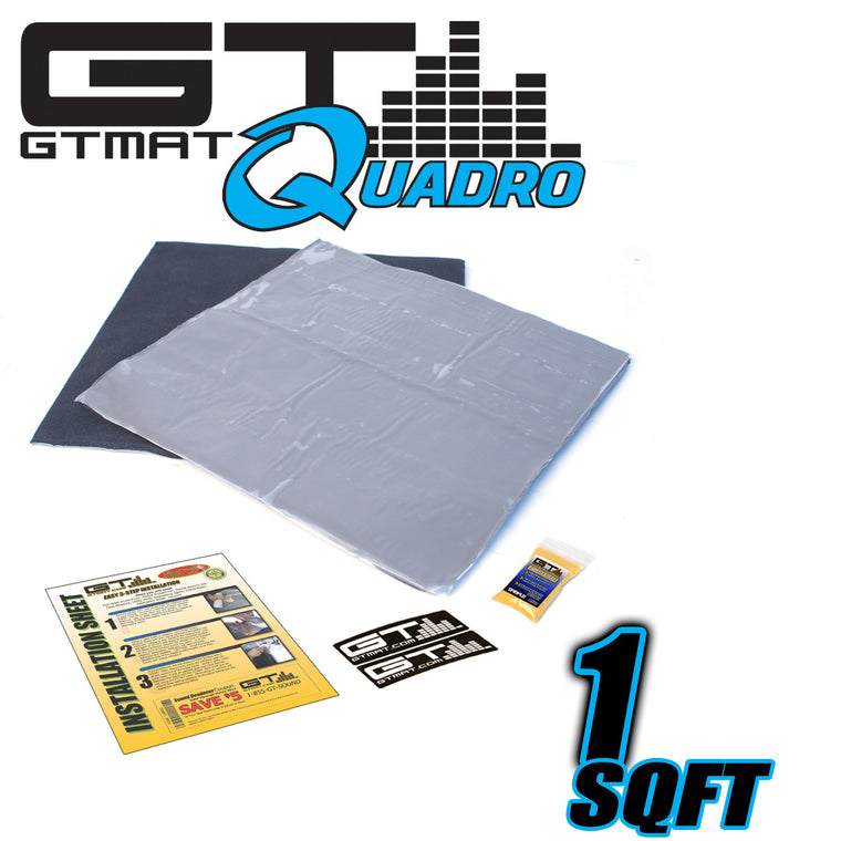 1 SQ FT GTMAT Quadro Car Audio Sound Deadener