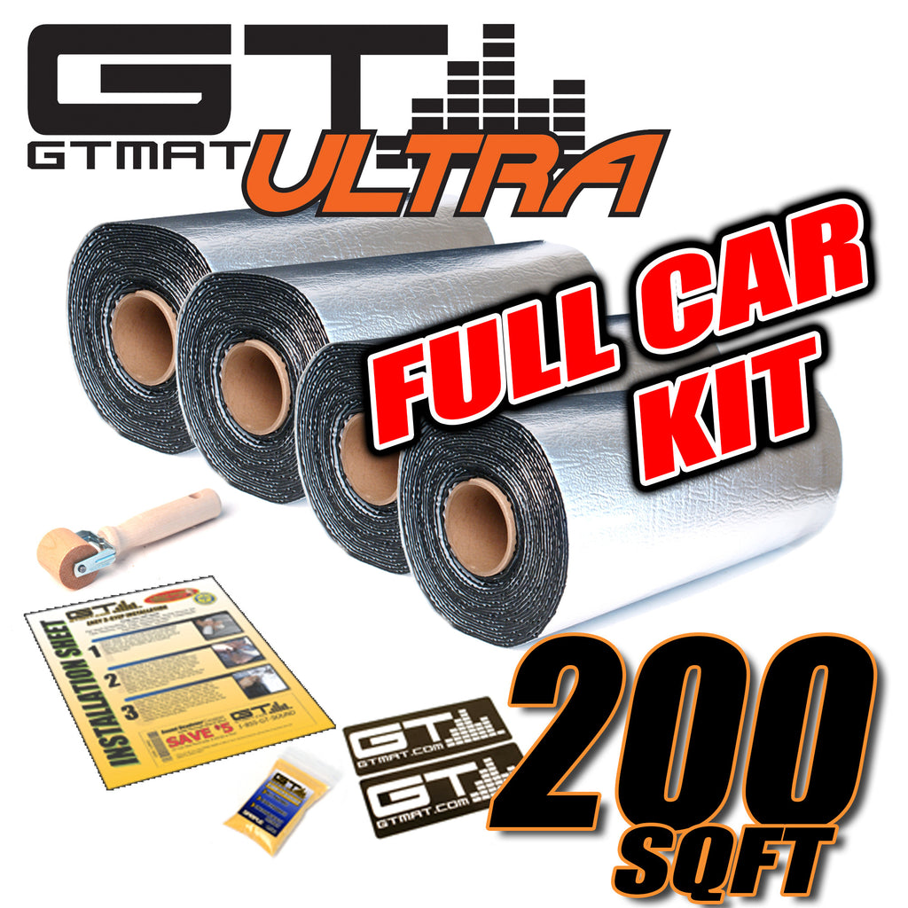 200 SQ FT GTmat Ultra 80 Bumper to Bumper Car Audio Sound Deadener