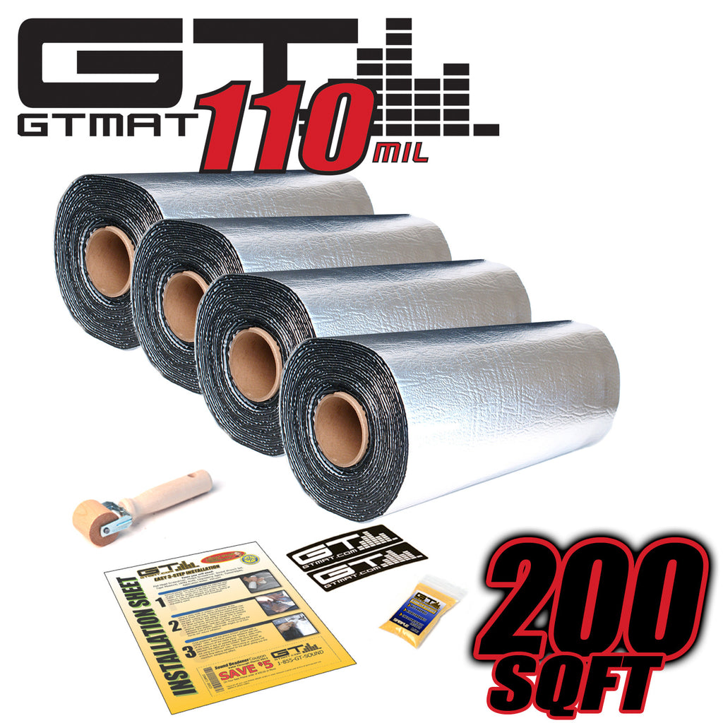 200 SQ FT GTMAT Supreme 110MIL Car Audio Sound Deadener