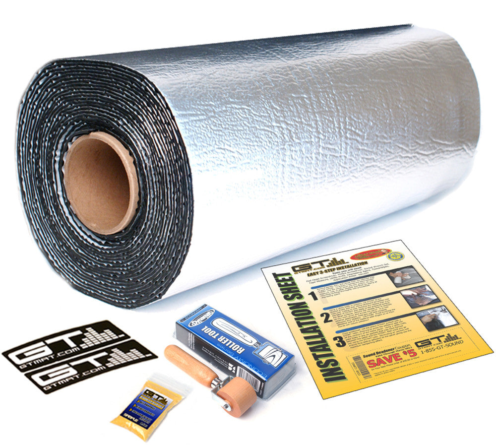 100 SQ FT 36in Wide Roll GTMAT Supreme 110Mil Car Audio Sound Deadener with Dynamat Roller