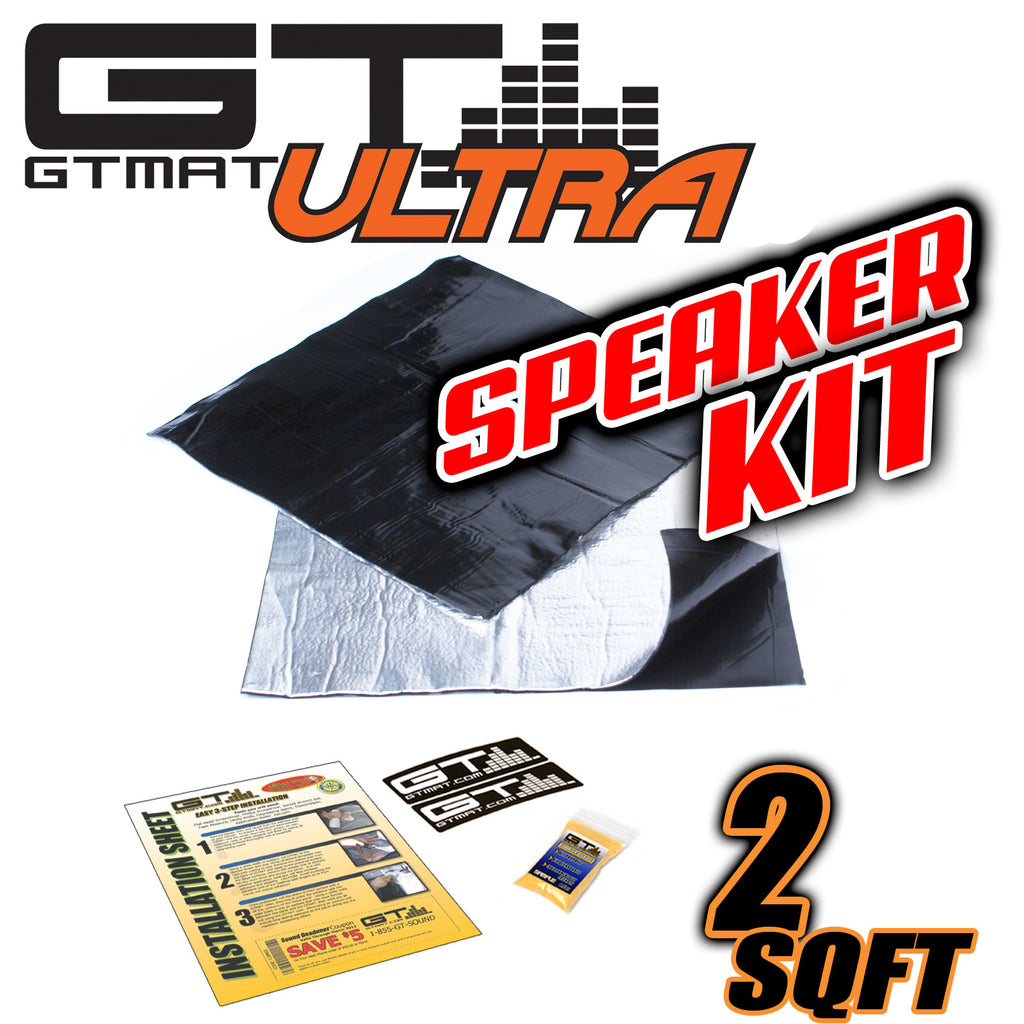2 SQ FT GTmat Ultra 80mil Speaker Kit Car Audio Sound Deadener