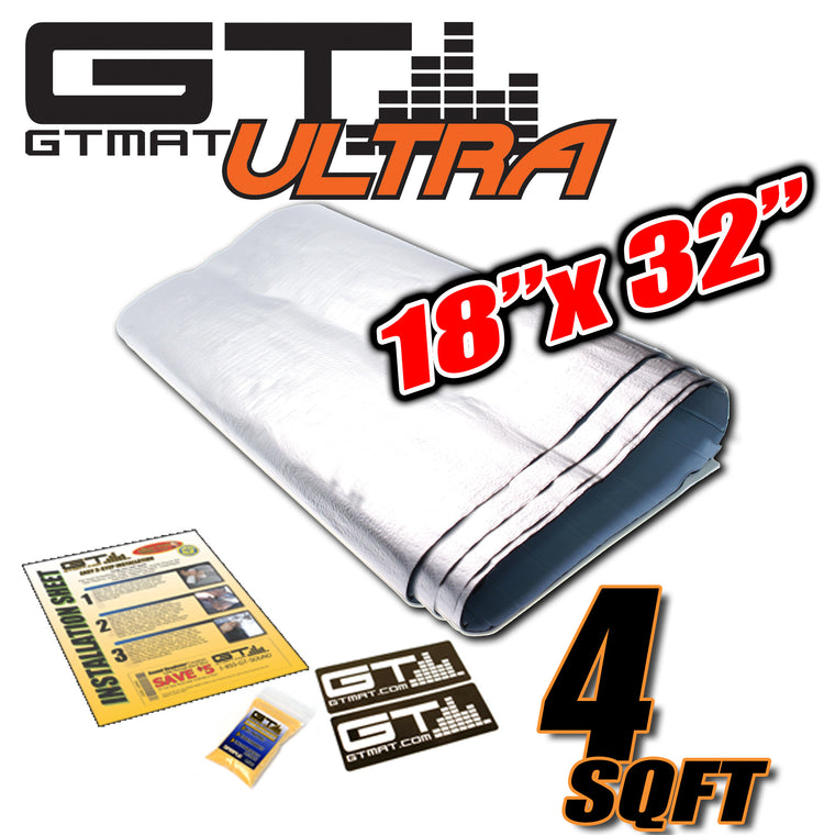 "4 SQ FT GTmat Ultra 80mil 18""x32"" Car Audio Sound Deadener"