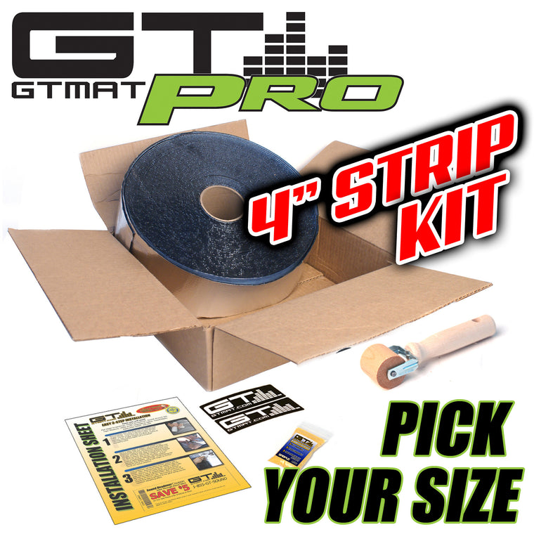 "GTmat Pro 50mil 4"" Wide Roll Strip Car Audio Sound Deadener - Pick a Size"