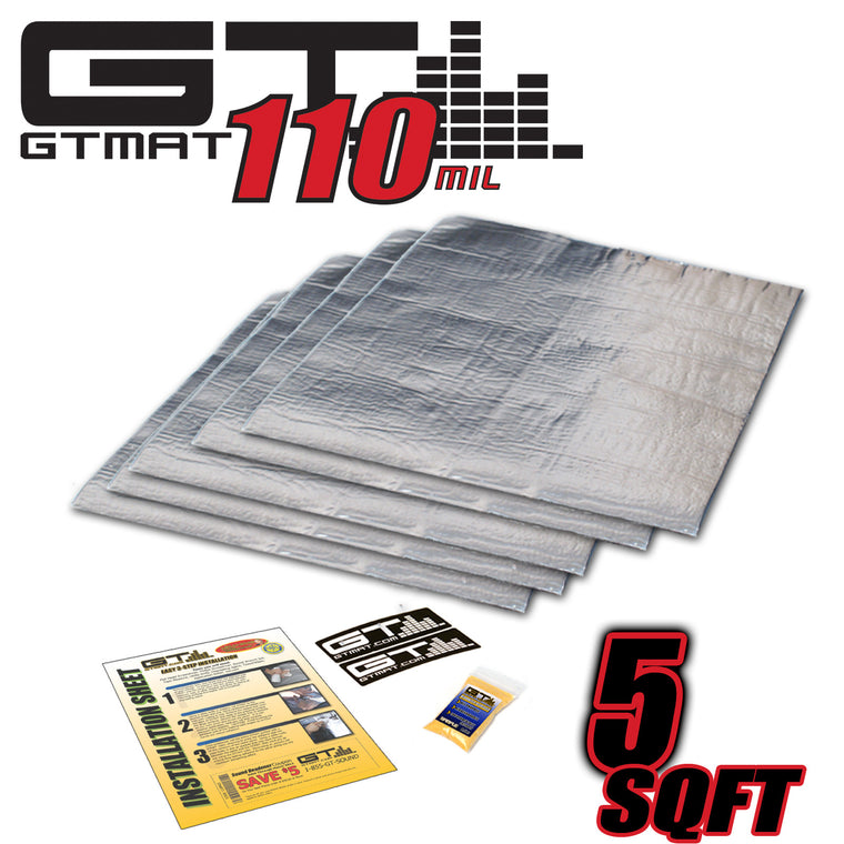 5 SQ FT GTMAT Supreme 110MIL Car Audio Sound Deadener