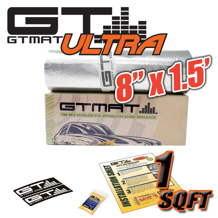 "1 SQ FT 8""x1.5' GTmat Ultra 80mil Car Sound Deadener Kit"