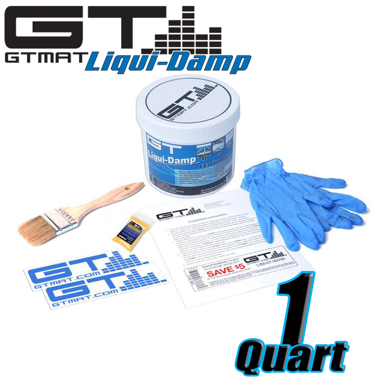 1 Quart GT Liqui-Damp Car Audio Liquid Sound Deadener