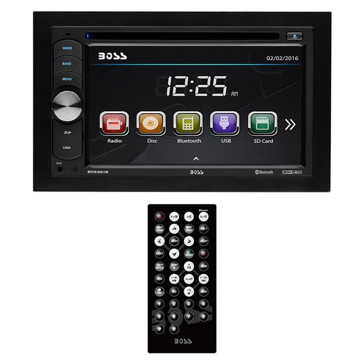 "Boss Double Din 6.2"" Touchscreen With Bt-remote 320 Watts"