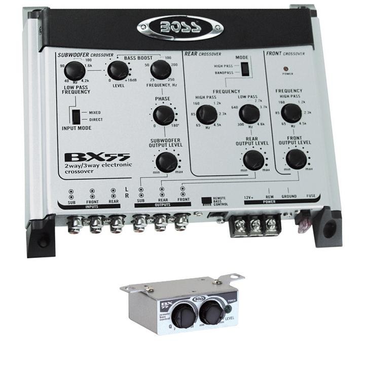 Boss 2-3 Way Electronic Crossover Remote Woofer Level Control