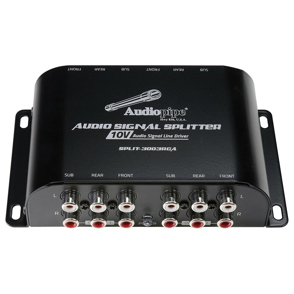 Audiopipe Multi-audio Amplifier 3 Rca Outputs W-bulit In 10v Line Driver