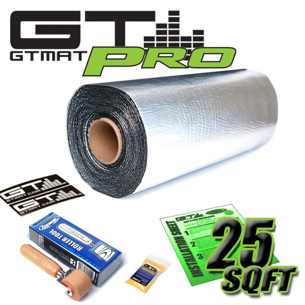 25 SQ FT GTmat Pro 50mil with Dynamat roller included Car Audio Sound Deadener