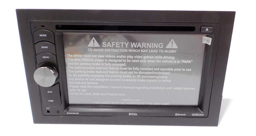 "BV9351b BOSS Bluetooth DVD/MP3/CD AM/FM Receiver Double Din 6.2"" Touchscreen"