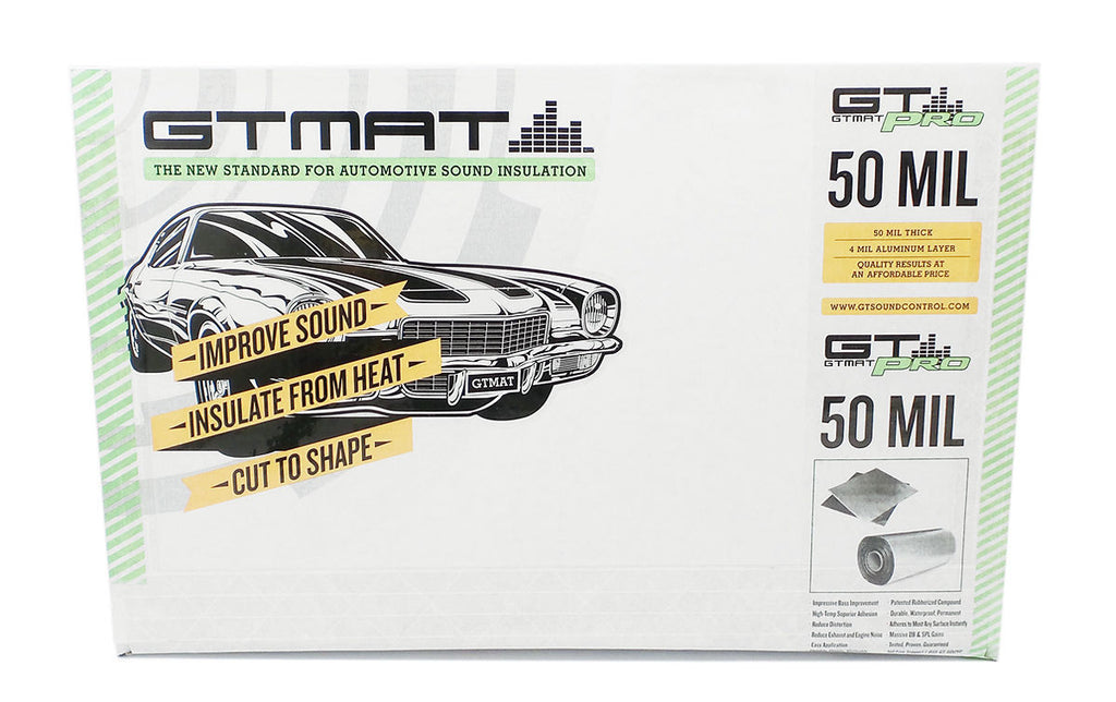 "24 SQ FT GTmat Pro 50mil 16""x36"" Car Audio Sound Deadener"