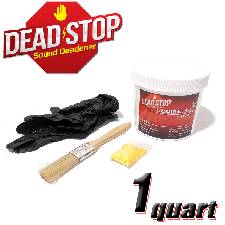1 Quart Dead Stop Vibration Damping Liquid Sound Deadener